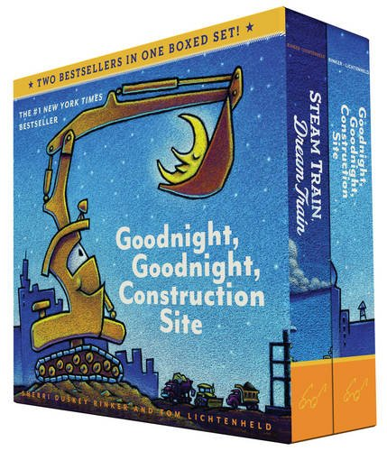 Goodnight, Goodnight, Construction Site and Steam Train, Dream Train Board Books Boxed Set