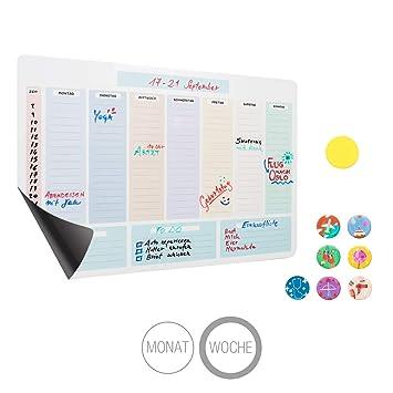 Amazy Calendario semanal magnético, 7 imanes y un borrador ...