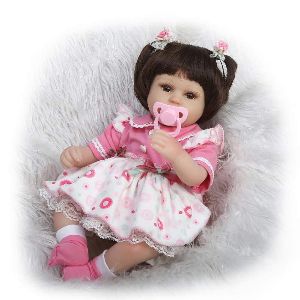 Homesave Baby Simulation Soft Silicone 42Cm Pink Dress Girl Halloween Regalos De Navidad