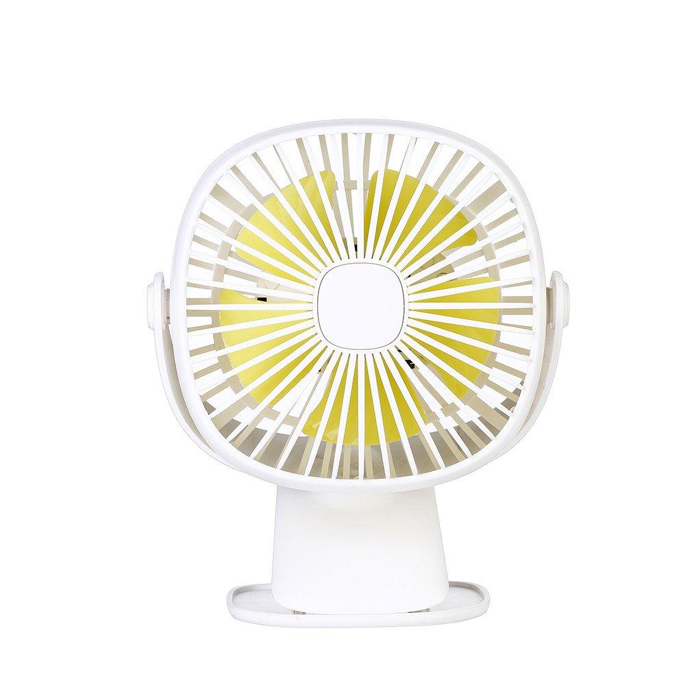 Mini Fan USB, TechCode 3 Speed Adjustable 360° Rotation Portable Personal Fan Small Cooling Table Fan Car Laptop Fan with LED Night Light for Baby Children Girls Women (White) by TechCode (Image #2)