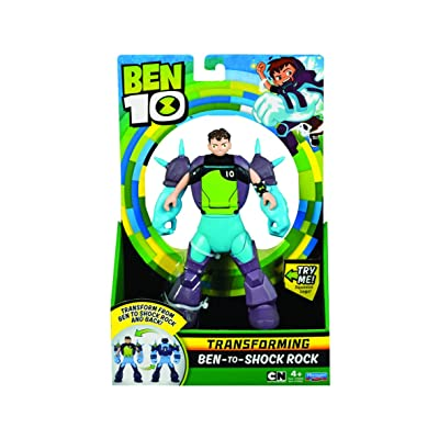 Ben 10 Ben to Alien Transforming Figure - Ben-to-Shock Rock: Toys & Games