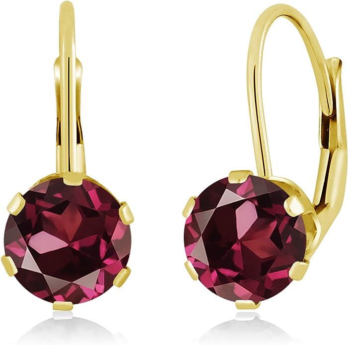 Gem Stone King 0.58 Ct Heart Shape Red Rhodolite Garnet White Diamond 925 Silver Pendant