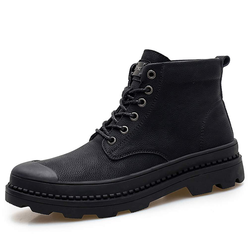 Cy Echtes Leder Martin Stiefel Männer Vintage Schnürschuhe Stiefelies High Tops Antikollisions Wandern Wüste Kampfstiefel Reiten Schuhe