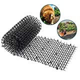 1 Pcs Plastic Cat Scat Mat with Spikes Keep Cats Away, 6.5'' Black Anti-Cats Network Digging Prickle Strip, Non-Toxic and Effective