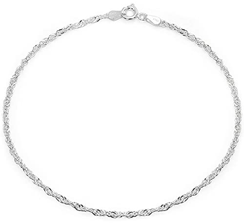 anklet to sterling bracelet with silver inch beads bracelets ankle faceted link