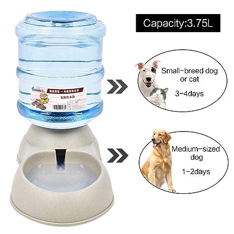 Mmnas - Dispensador automático de Agua para Perros y Gatos, de plástico de Gran Capacidad