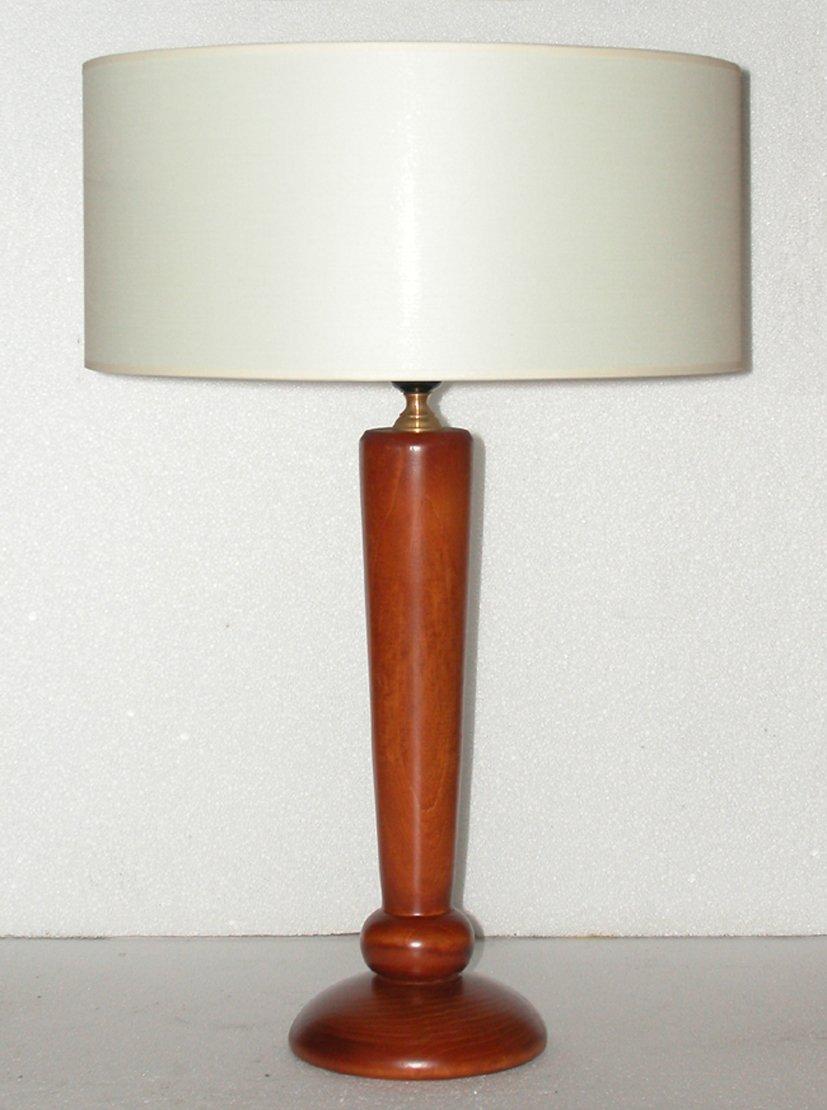 Lampada da comodino, abat jour in legno colore ciliegio; altezza ...
