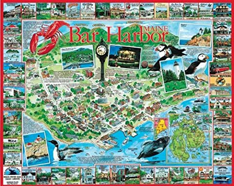 White Mountain Puzzles Bar Harbor Maine - 1000 Piece Jigsaw Puzzle