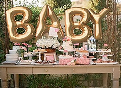Buy PARTY PROPZ BABY SHOWER (GOLDEN BABY FOIL BALLOONS 1 SET OF 4 ...