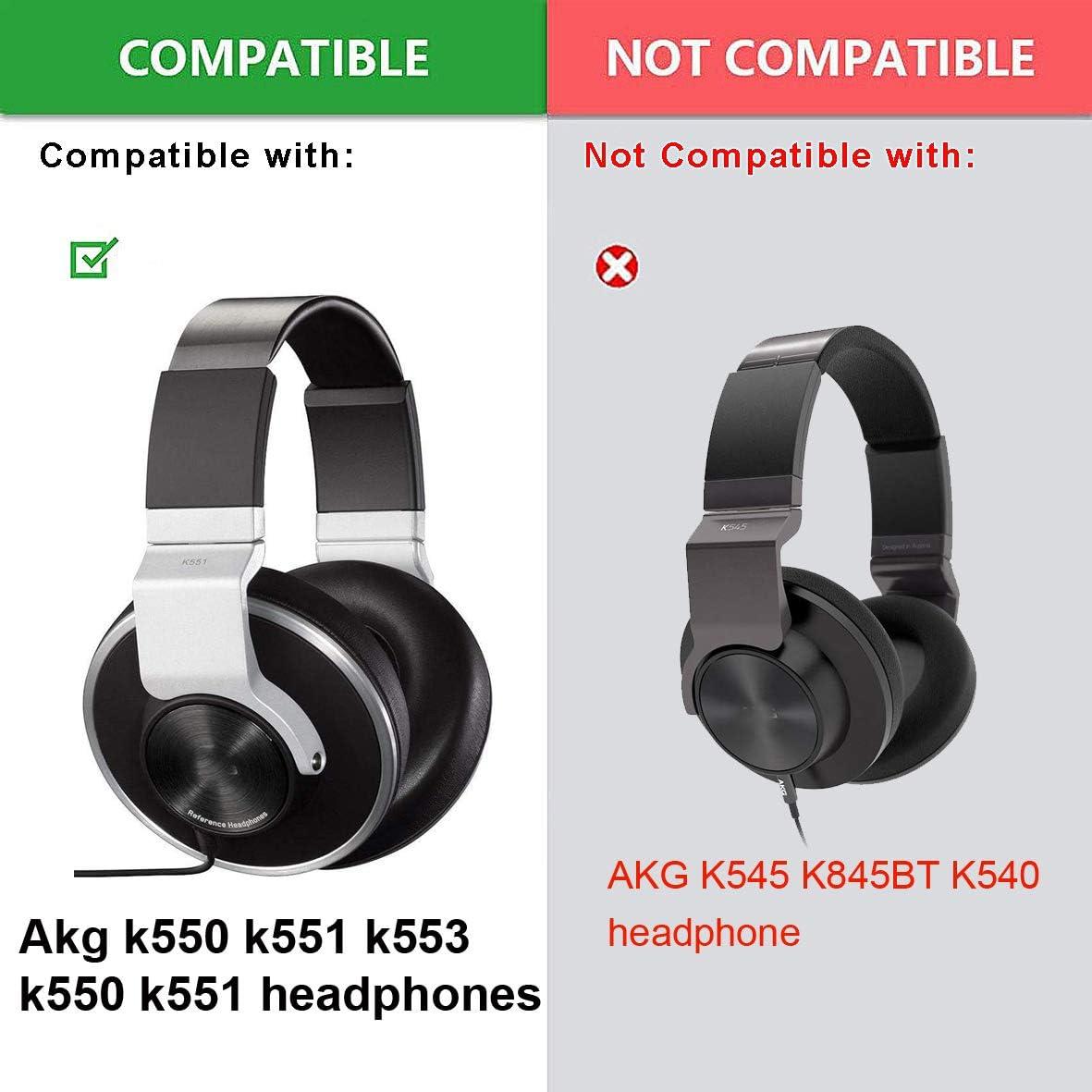 Headband Replacement Headband Ear Pads Foam Cushion Pillow Parts Cover for Akg k550 k551 k553 k 550 551 Headphones