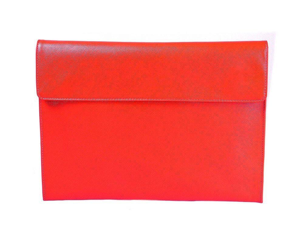 SAGEBROWN Red Saffiano Envelope Folder B074W979ZV