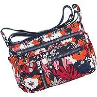 Women 's Multi Pocket Crossbody Bag Casual Handbag Nylon Printing Shoulder Bag Casual Travel Sling Bag