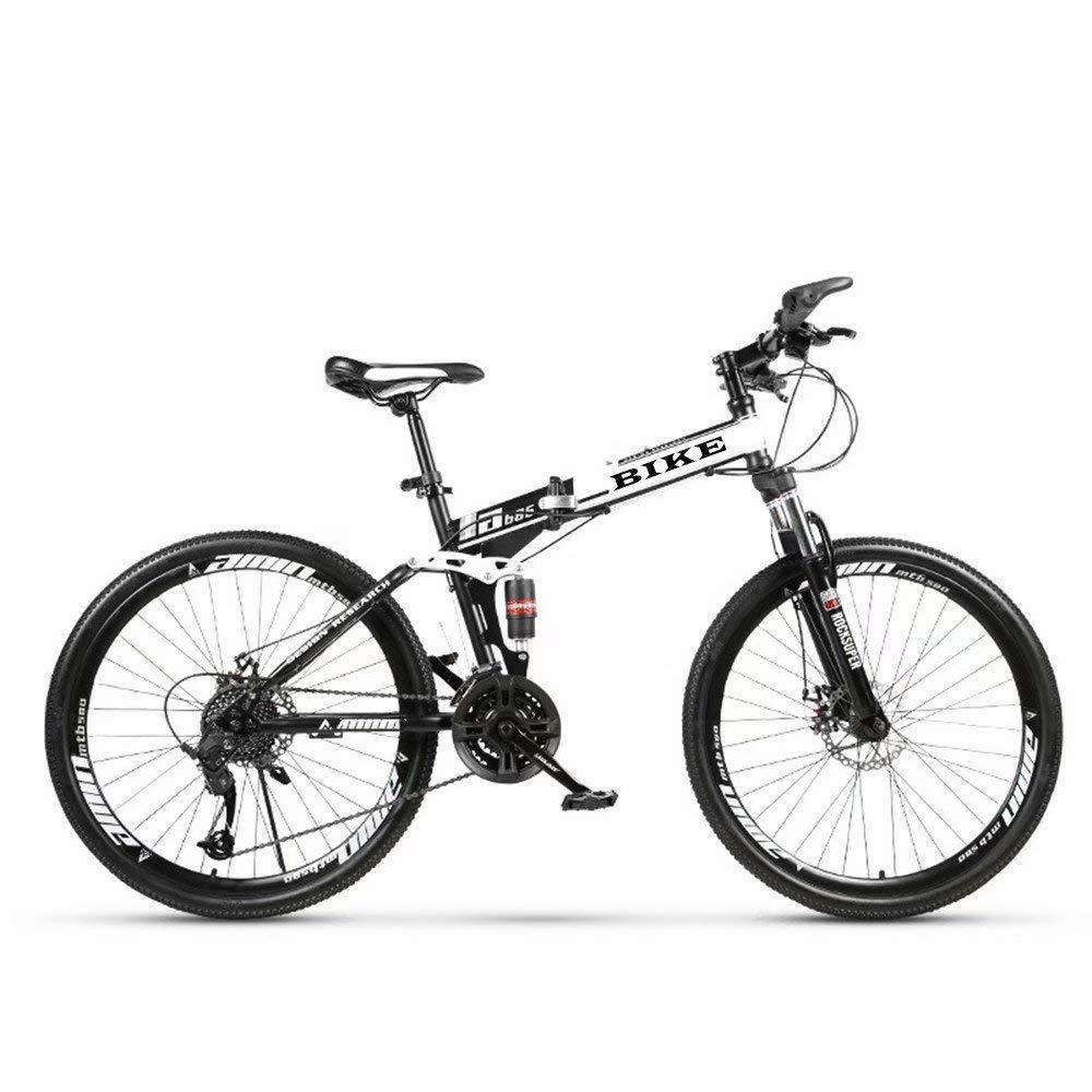 NOVOKART-Foldable MountainBike 24/26 Inches, MTB Bicycle with Spoke Wheel, White
