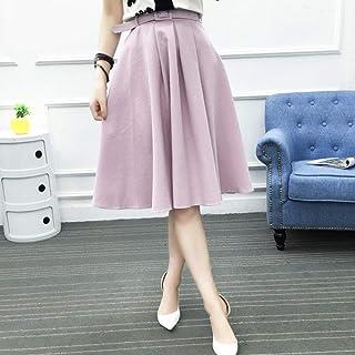 HEHEAB Falda Falda Dividida Coreano Office Lady Fajas Moda Chic All-Match Una Línea Faldas Bottoms Mujer