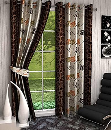 Freehomestyle Floral Door Curtains- Multi Color (Set of 2) Curtains at amazon