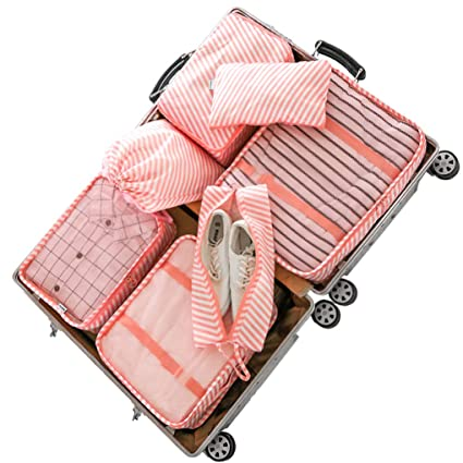 4b10bdfbd14a Amazon.com: Sarazong 7 PCS Multi-Color Packing Cubes Travel Luggage ...