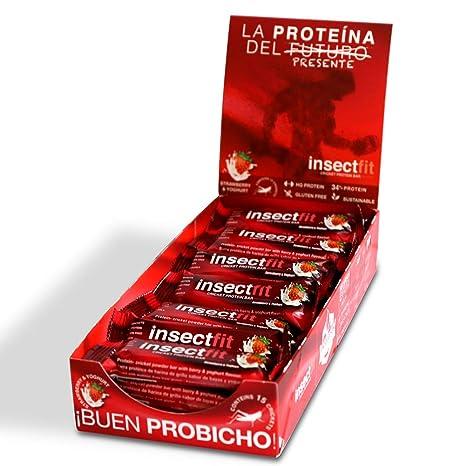 Barritas Proteinas Energéticas Comida Proteica, de harina de grillo y de la leche (24