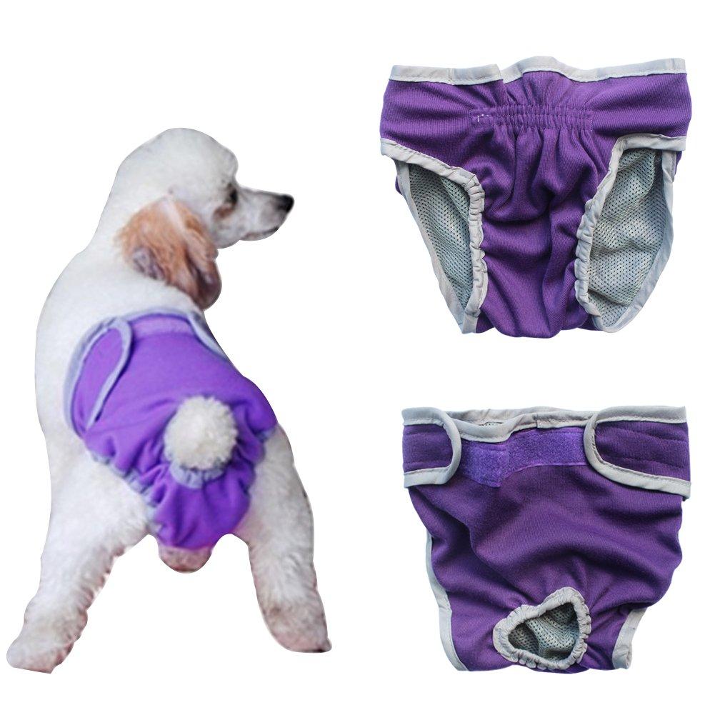 Freebily Pa/ñal Reutilizable Lavable para Mascota Perro Gato Cachorro Braguita Fisiologicas Grandes Ajustable Permeable al Aire Perritas