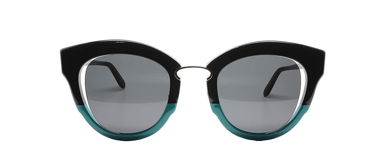 d3f946255fd7 Amazon.com: Salvatore Ferragamo Women's Cat Eye Sunglasses, Black/Jade  Vine: Clothing