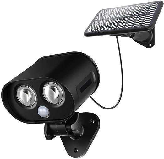 XIBALI Luz Solar LED Lámpara Solar Exterior,IP65 Impermeable Wireless Lámpara Solar con 120° Sensor de Movimiento,Adjustable Doble Luz y Panel Solar Foco Solar para Jardín Garaje(1Pieza): Amazon.es: Hogar
