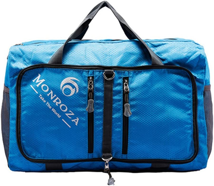 Bagtopia Foldable Travel Duffel Bag Luggage Sport Gym Water Resistant Nylon Tote Blue