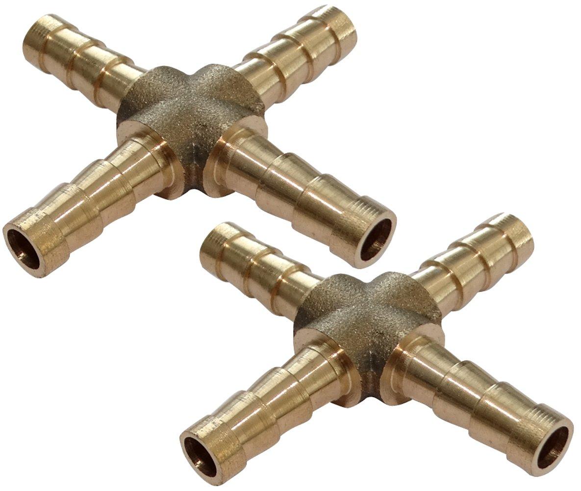 2x Conexiones conector en X de aire comprimido compresor /ô6mm acoplador de enchufe multiple C18592 AERZETIX