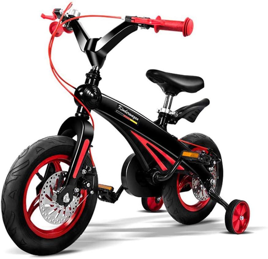 Cacoffay 12-14 Pulgada Niños Bicicletas para 2-5 Años Antiguo Chicas, Niños Bicicleta Magnesio Aleación Una Pieza Marco y Formación Ruedas