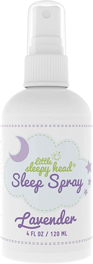 Little Sleepy Head Lavender Spray for Kids & Adults, Calming Spray for Bedtime Routine, Mist Pillow Spray for Sleep, Lavender Essential Oil Spray is Made in USA, Lavender Aromatherapy to Relax & Rest