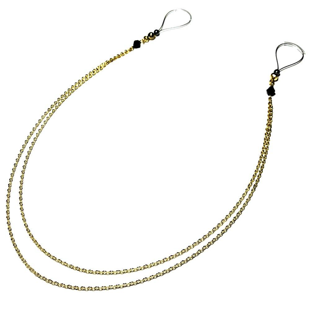 Nipple Jewelry Noose Double Chain Gold Hematite Adjuster Non Piercing Unpierced Non-Pierce