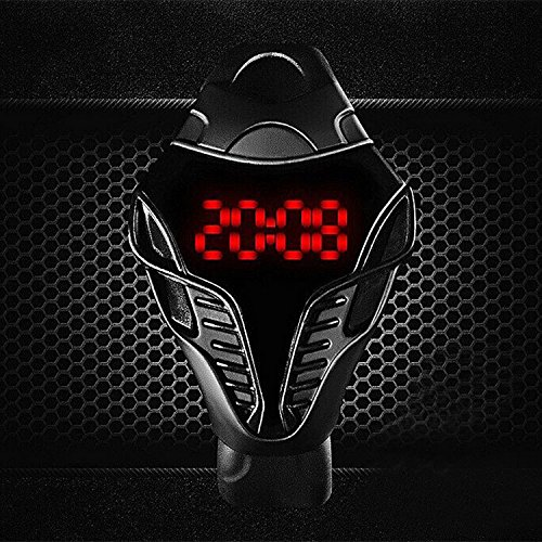 Amazon.com: Auntwhale Fashion Cobra Sports Watch Mens Casual Watch Amazing Snake Head Design Red LED Digital Watch Silicone Strap watch Black: Watches