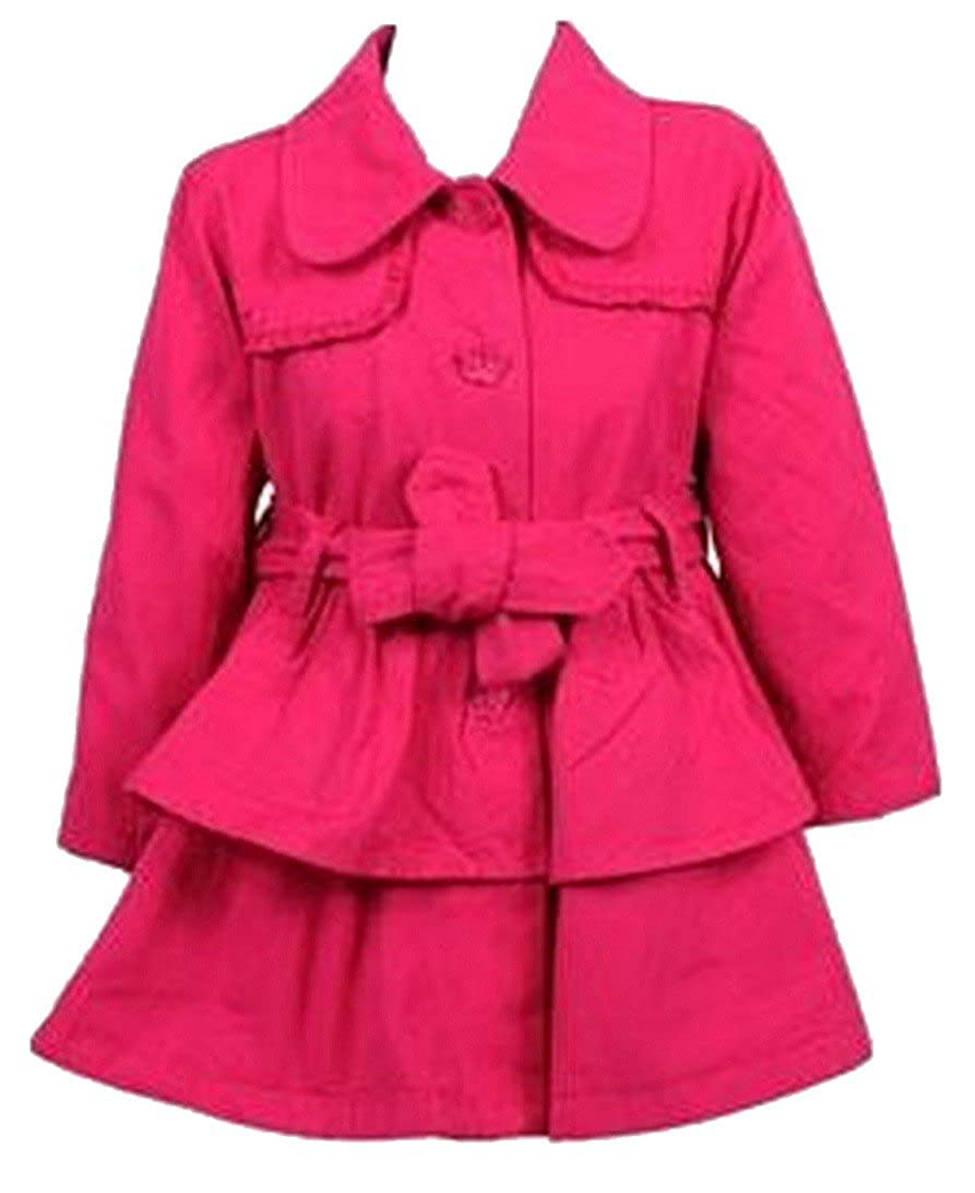 006271f547b0 Girls Baby Toddlers Pink Ex Matalan Dressy Frills Winter Coat Warm ...