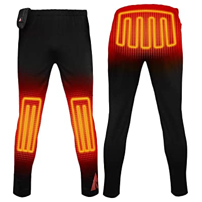 .com : ActionHeat 5V Base Layer Battery Heated Pants for Men - Electric Heating Pants with Tri-Zone Heating Panels - Heated Trouser for Cold Weather Outdoor Camping, Hiking, Motorcycling : Clothing