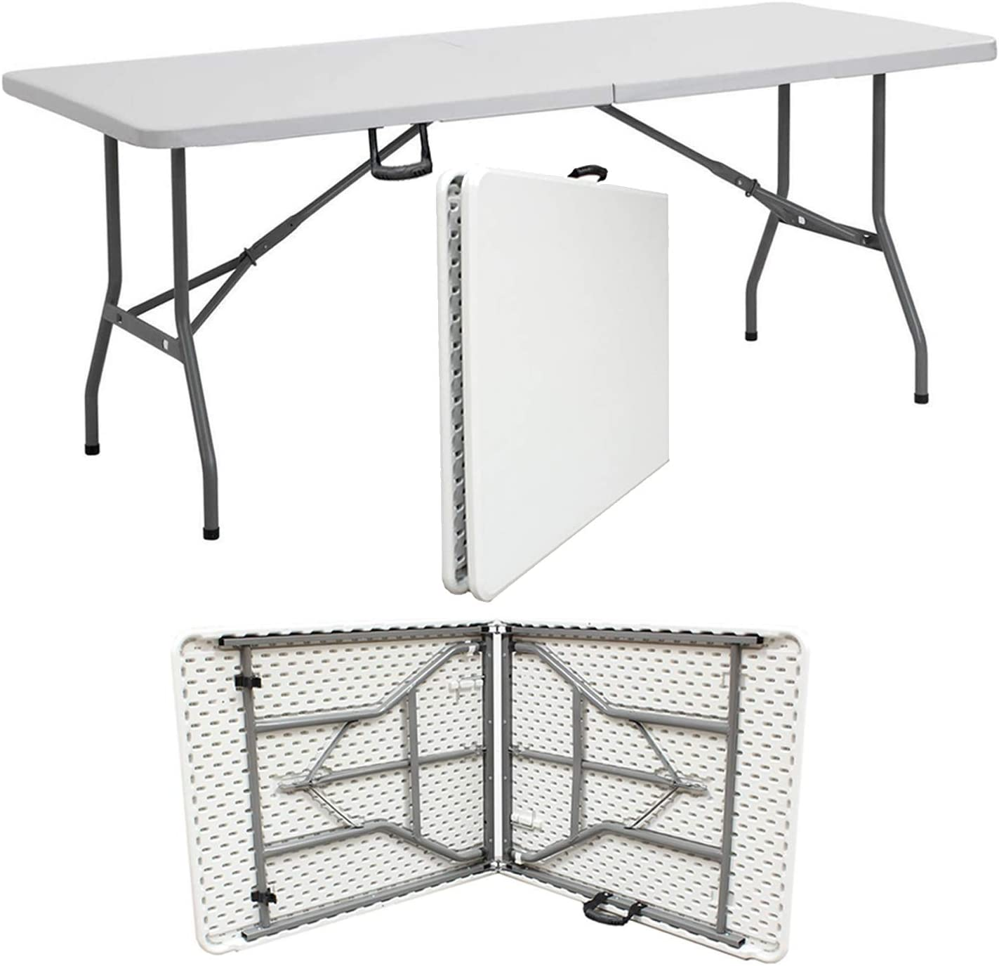 5ft /& 6ft Camping Catering Heavy Duty Folding Trestle Table For BBQ Picnic Party by Crystals/® 6ft Folding Table Denny Shop 4ft
