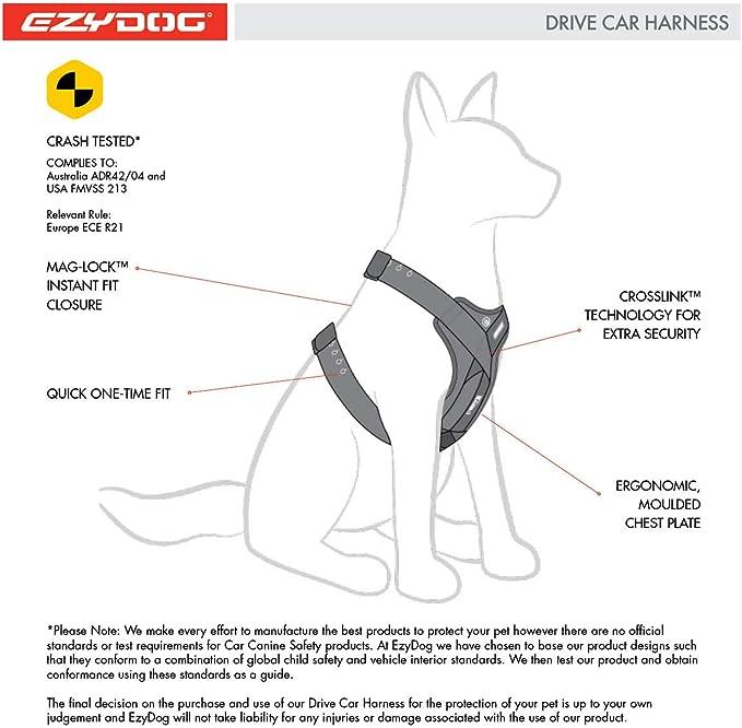 EzyDog Drive Arnés De Coche para Perro, Cinturón De Seguridad para ...
