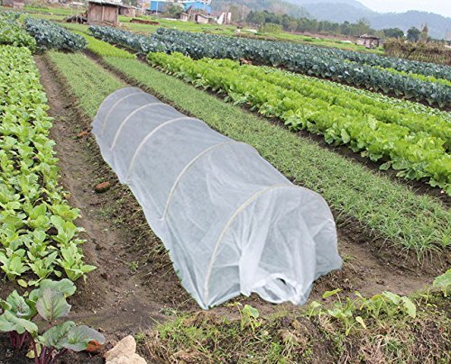 RowTunnel 45FT Long Agfabric Grow Tunnel kit, 0.55oz Floating Row Cover with Tunnel Hoops,Plant Cover &Frost Blanket For Season Extension and Seed Germination Support by Agfabric (Image #6)