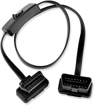 Sienoc 0 6m Obd2 Obdii Extension Switch Kabel 16pin Elektronik