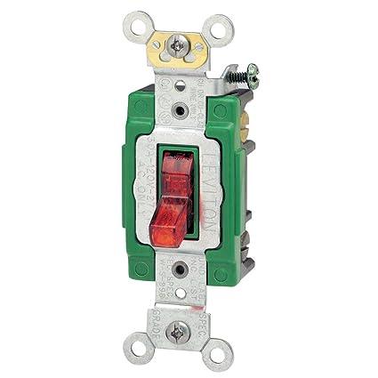 leviton 3032-plr 30 amp, 120 volt, toggle pilot light, illuminated on