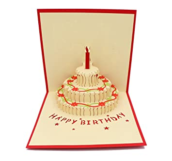 Amazon Com Isharecards Handmade 3d Pop Up Birthday Cards Creative