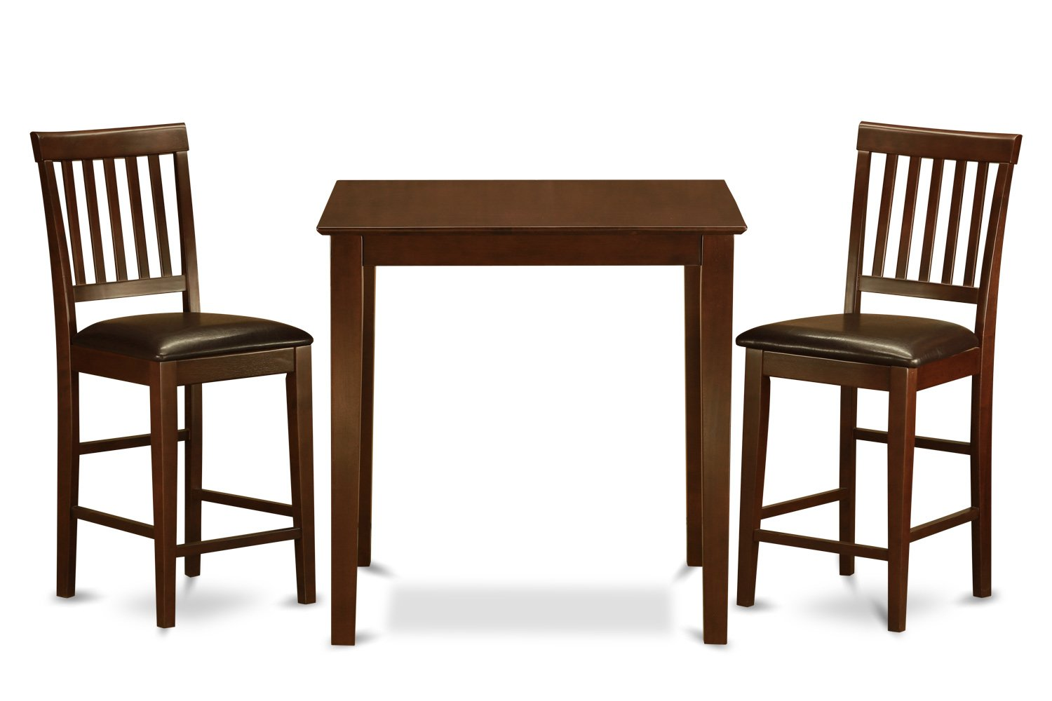 VERN3-MAH-LC 3 PC counter height Dining set-Square pub Table and 2 Stools