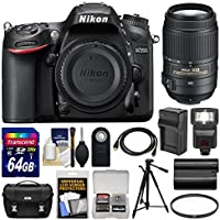 Nikon D7200 Wi-Fi Digital SLR Camera Body with 55-300mm VR Lens + 64GB Card + Case + Flash + Battery/Charger + Tripod + Kit Basic Facts Review Image