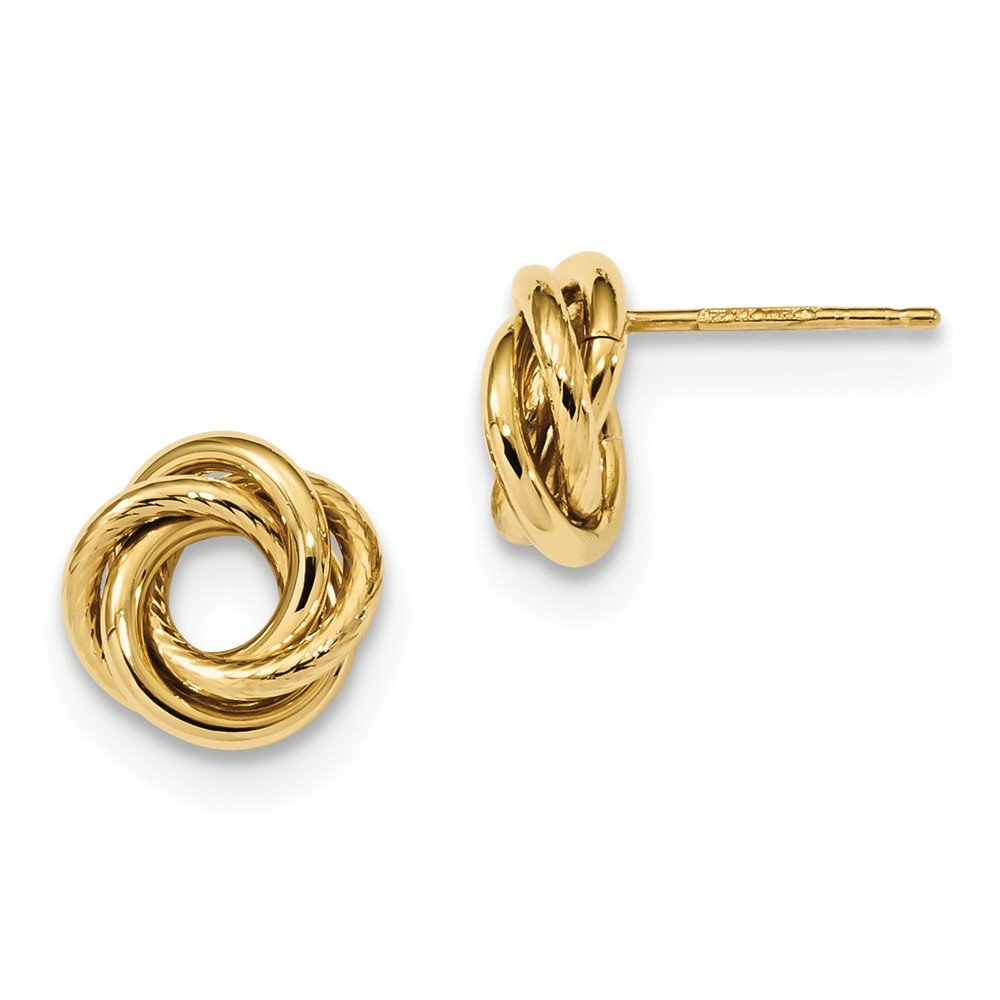 14kt Yellow Gold Gold Polished Love Knot Post Earrings