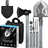BANORES Camping Shovel Axe, Multifunctional Folding Shovel and Survival Axe 19.37-38.97inch Lengthened Handle High…