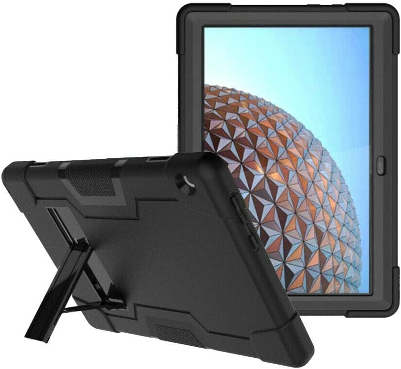 Cherrry for Lenovo Tab M10 (TB-X605) 10.1 Inch Case,Heavy Duty Shockproof Dropproof Rugged Armor Build in Kickstand Full Body Protective Case for Lenovo Tab M10 10.1 Inch (Black/Black)