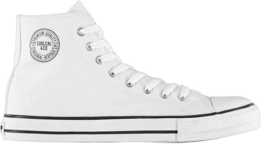 soulcal white canvas shoes