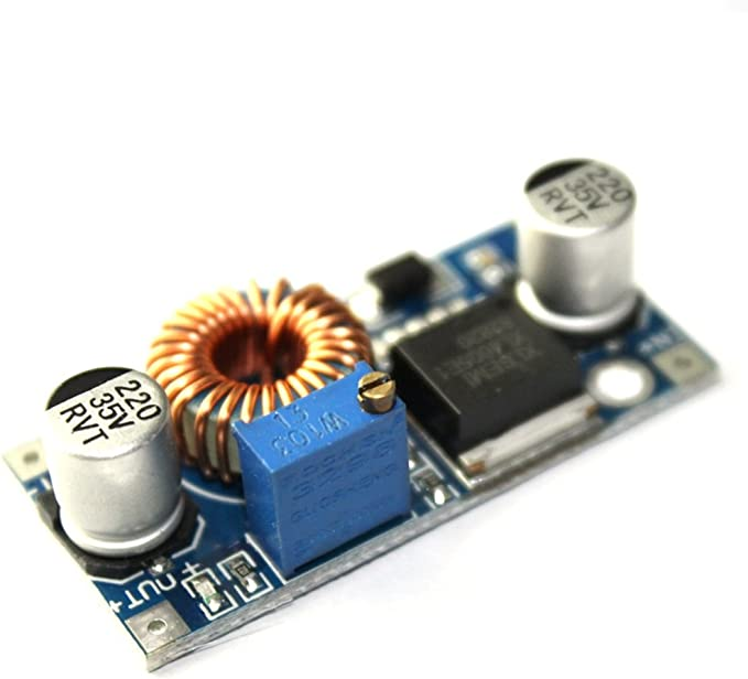 flashtree 【2 pcs】 LM2596 DC-DC Step Down Power Supply Module 3A//10W Adjustable Step Down Module Buck Converter 24V to 12V 5V 3V