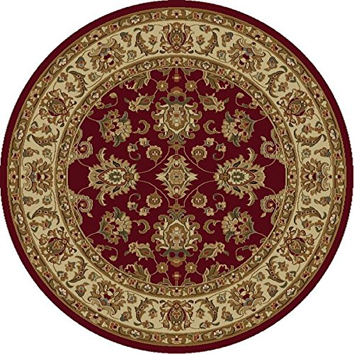 KAS Oriental Rugs Lifestyles Collection Kashan Round Area Rug, 5' x 3