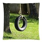 unique Tire swing Custom Zippered Pillow Cases 18x18 Inch shop treasure
