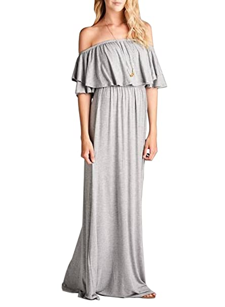 8a6444144b7cf MIHOLL Cowl Neck and Over The Shoulder Maternity Dress by Mother Bee (Small,  Gray