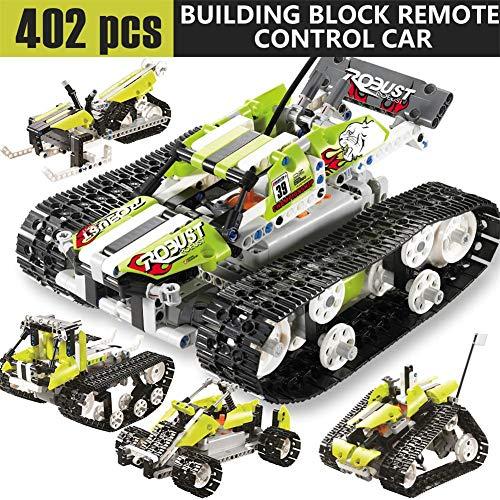 402pcs積み木 ラジコン模型自動車 創意立体パズル おもちゃ 自由に組み合わせ 組み立てキット  ラジコンカー リモコン付き リモコンカー