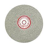 uxcell 6-inch Grit 80 Diamond Coated Flat Lap Wheel Grinding Sanding Polishing Disc